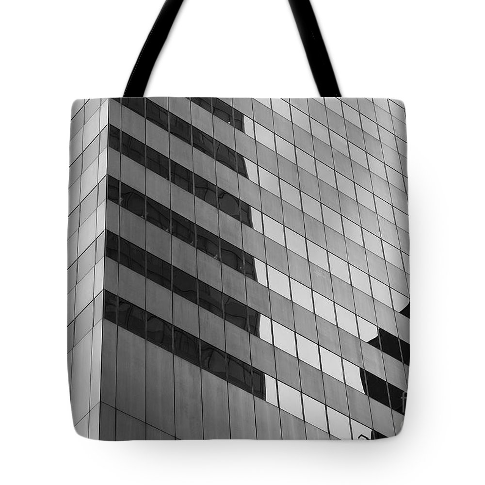 Clarence Holmes Tote Bag featuring the photograph Citigroup Facade IIi by Clarence Holmes