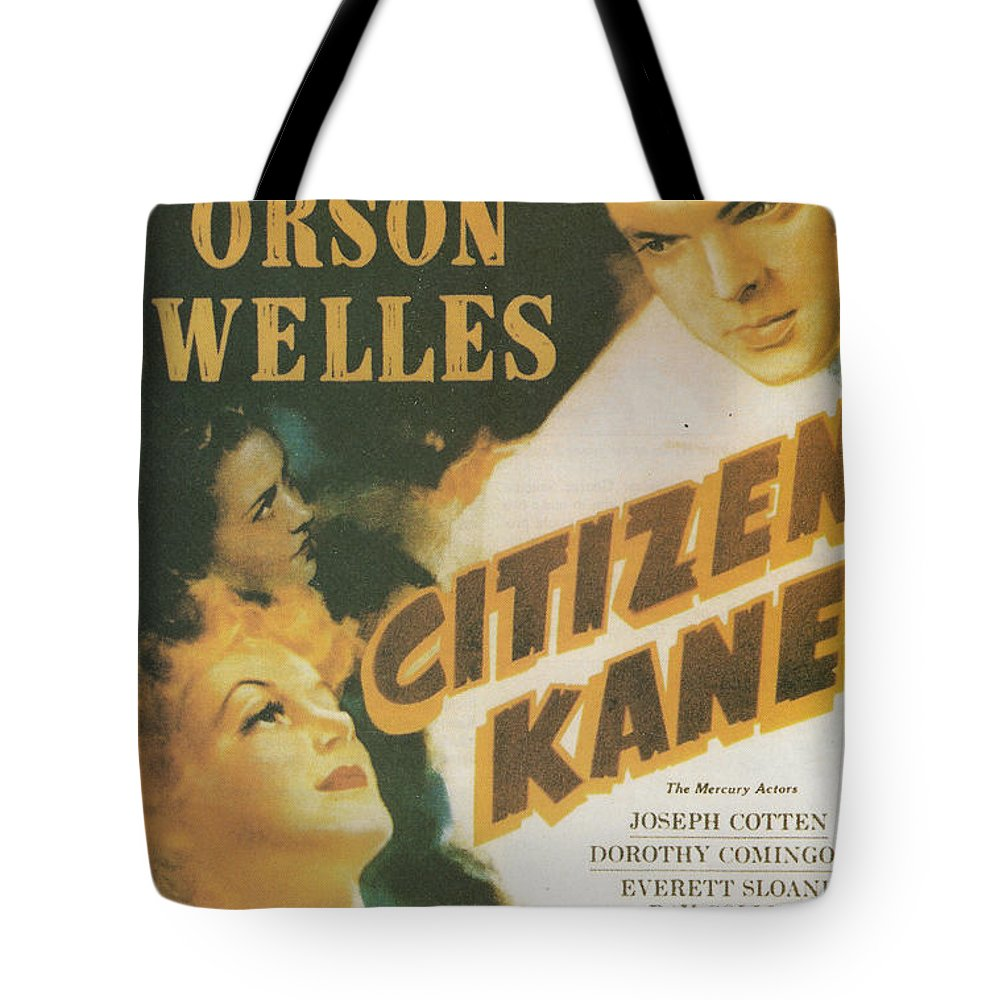 Citizen Kane Tote Bag featuring the painting Citizen Kane - Orson Welles by Georgia Fowler