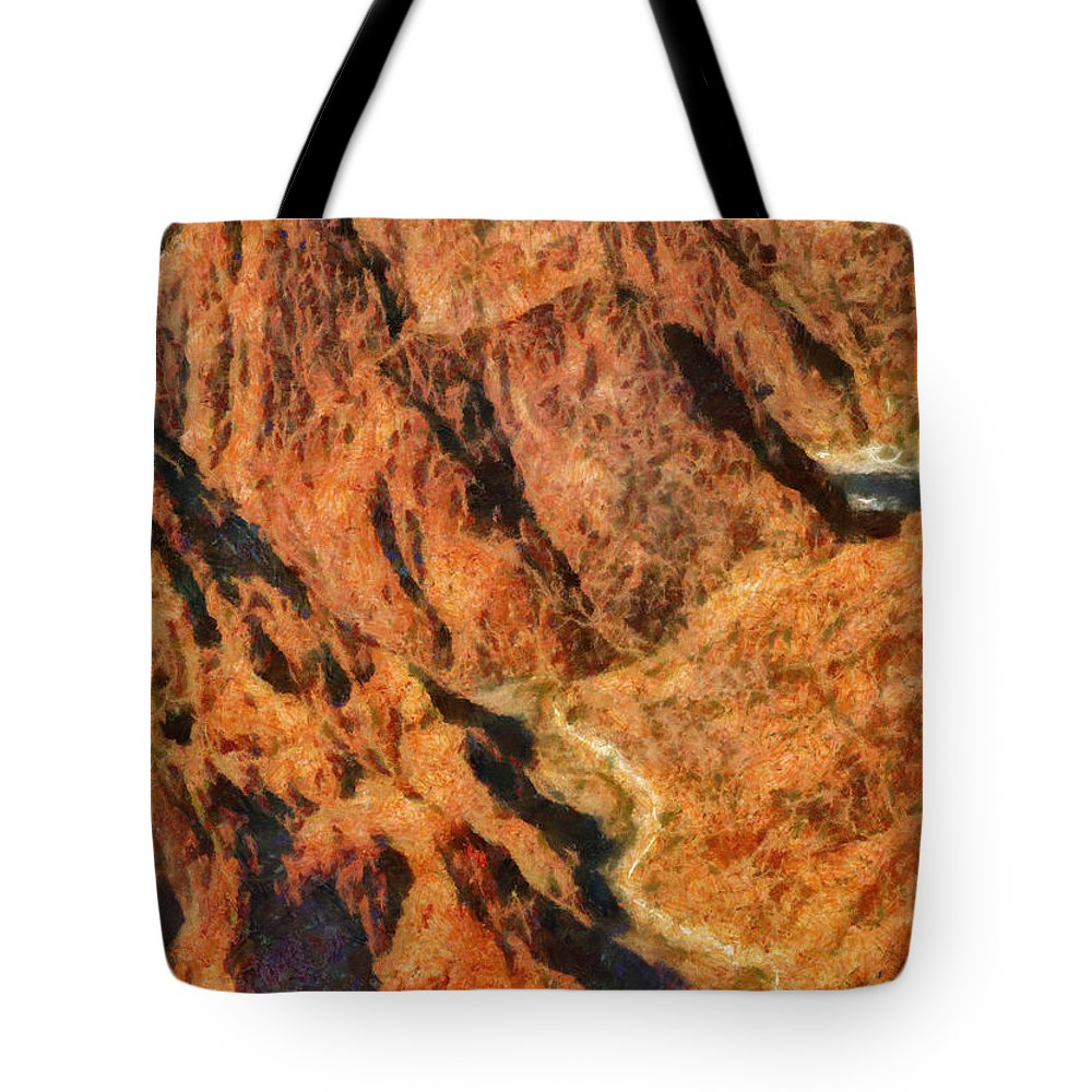 Savad Tote Bag featuring the photograph City - Arizona - Grand Canyon - A Look Into The Abyss by Mike Savad