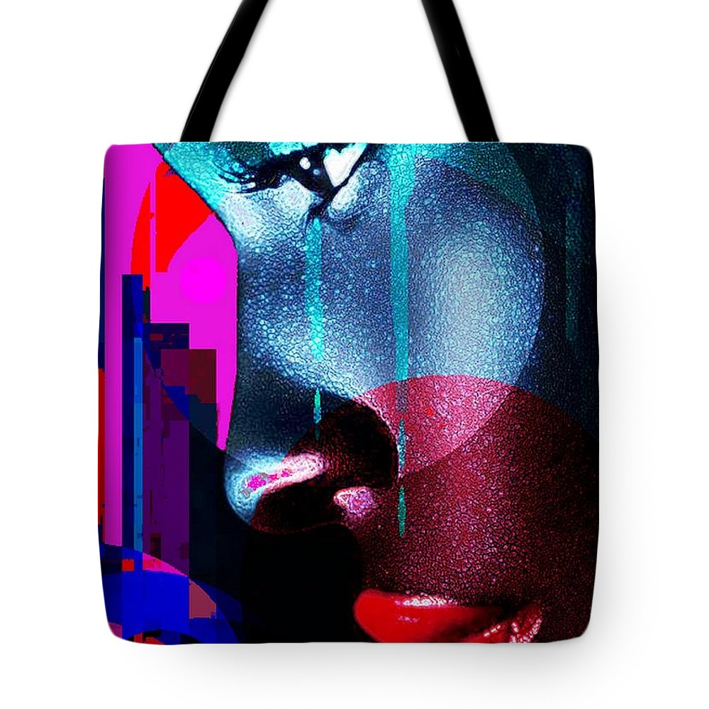 Blues Tote Bag featuring the digital art City Blues by Michael Todd