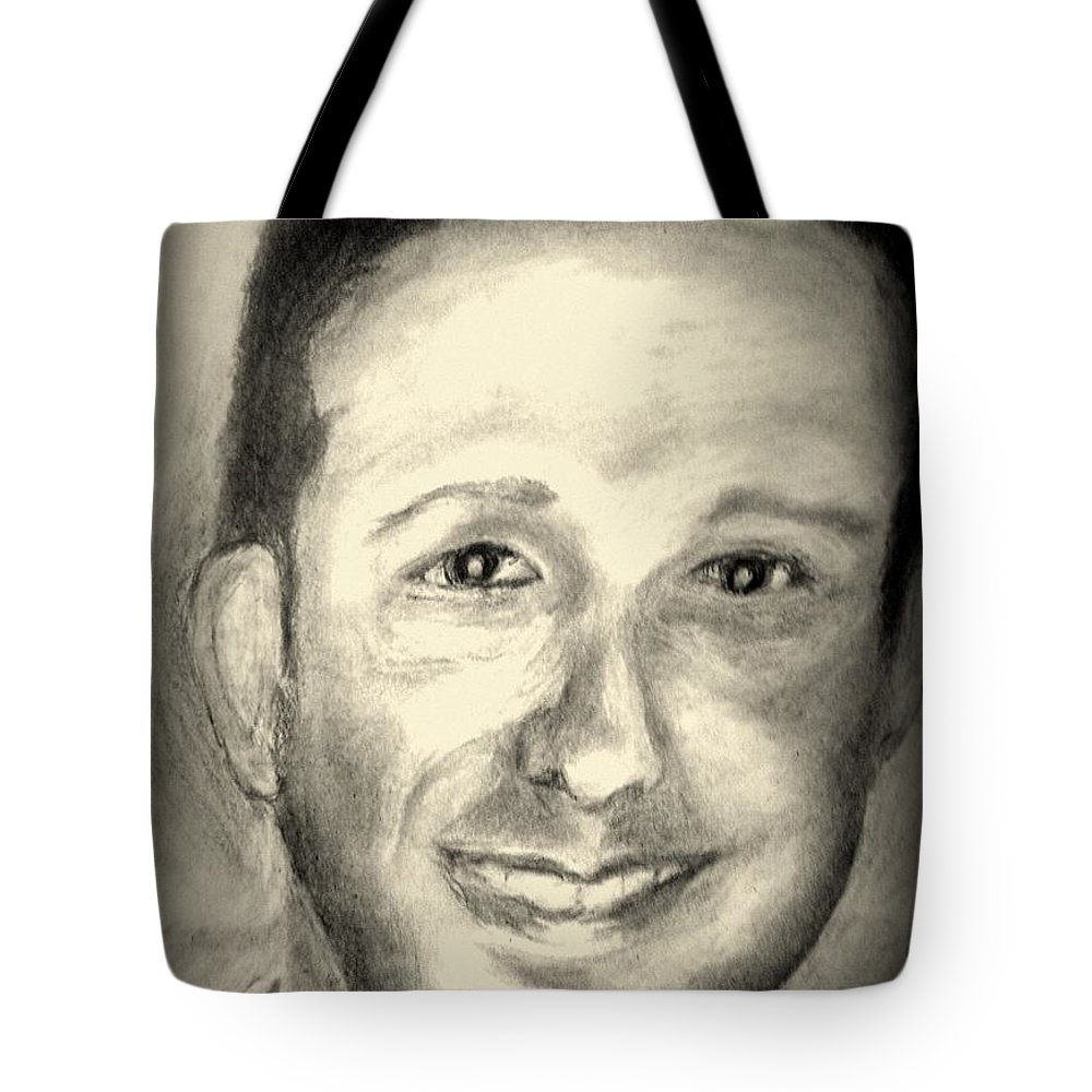 Los Angeles Tote Bag featuring the drawing City Councilman Englander by Irving Starr