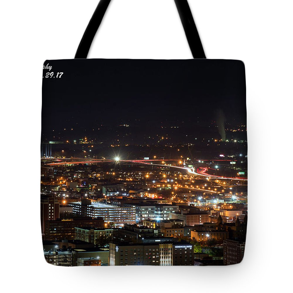 Birmingham Tote Bag featuring the photograph City Lights Over Bham, Al by Jeffery Gordon
