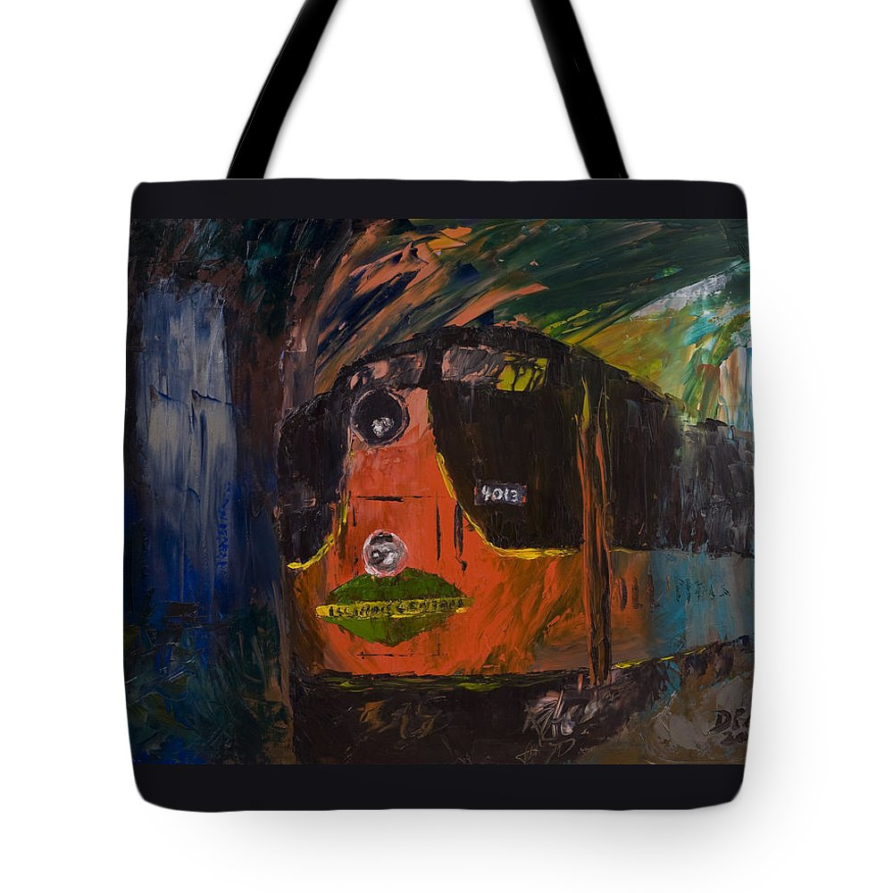 Train Tote Bag featuring the painting City Of New Orleans by David McGhee