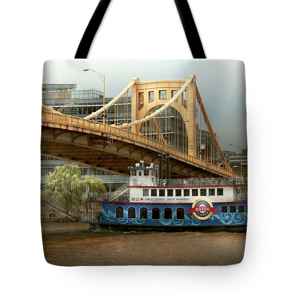 10th Street Bypass Tote Bag featuring the photograph City - Pittsburg Pa - Great Memories by Mike Savad