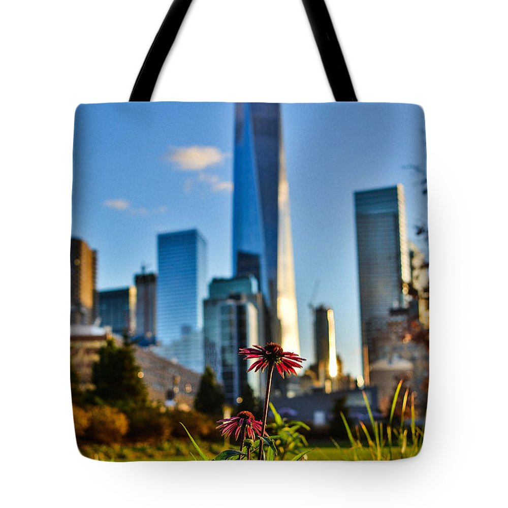 City Tote Bag featuring the photograph City Vs Nature by Micha Dziekonski