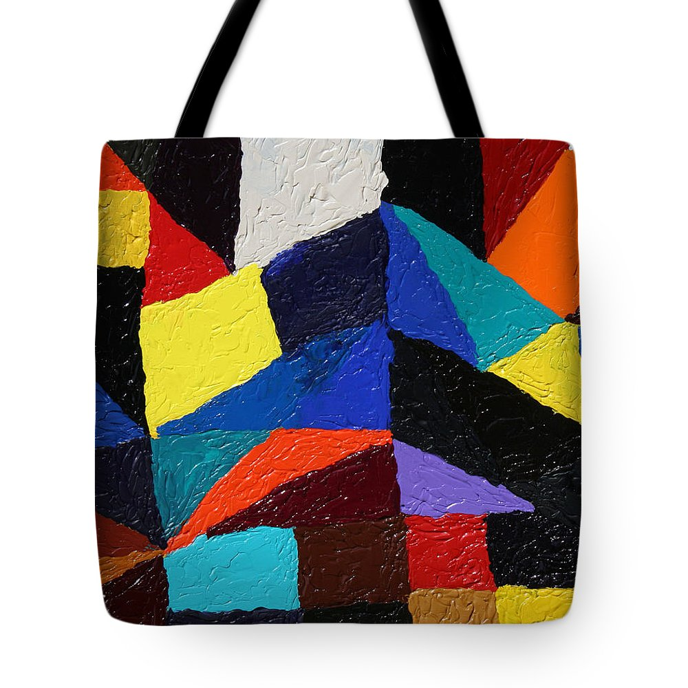 Fusionart Tote Bag featuring the painting Cityscape by Ralph White