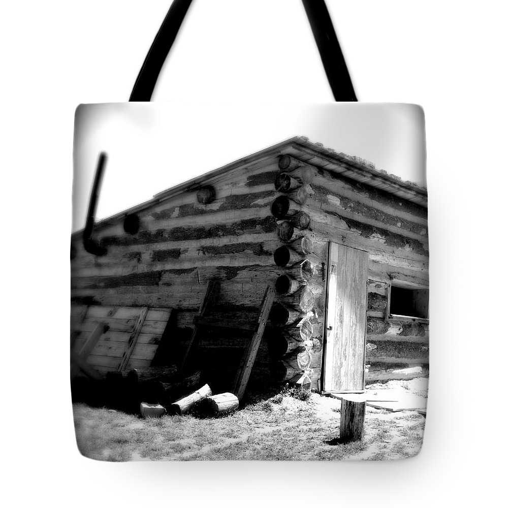 Army Tote Bag featuring the photograph Civil War Cabin 1 Army Heritage Education Center by Jean Macaluso