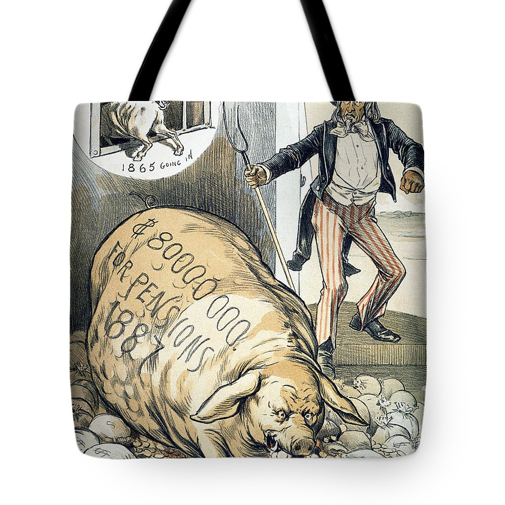 1888 Tote Bag featuring the photograph Civil War Pensions, 1888 by Granger