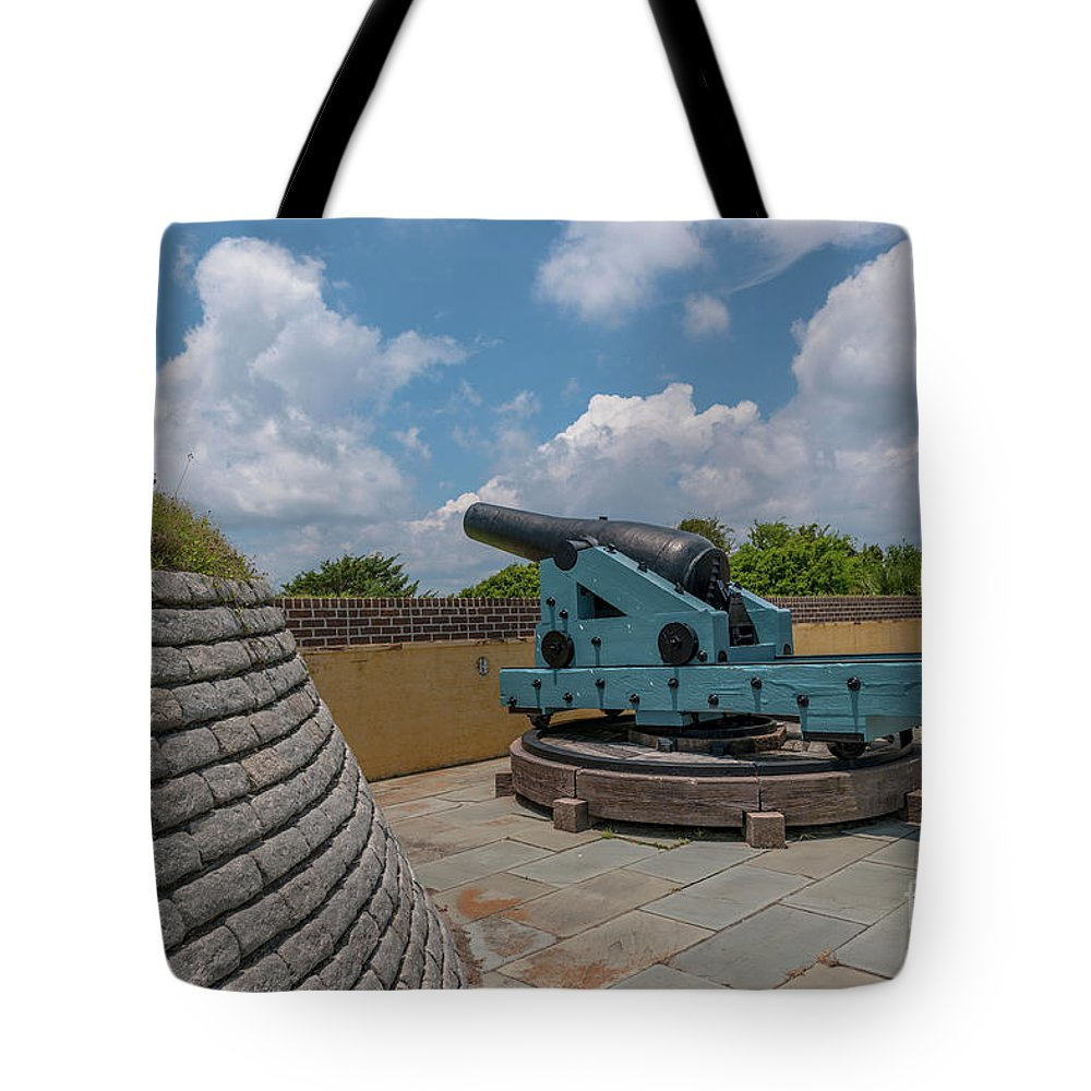Fort Moultrie Tote Bag featuring the photograph Civl War Reaper by Dale Powell