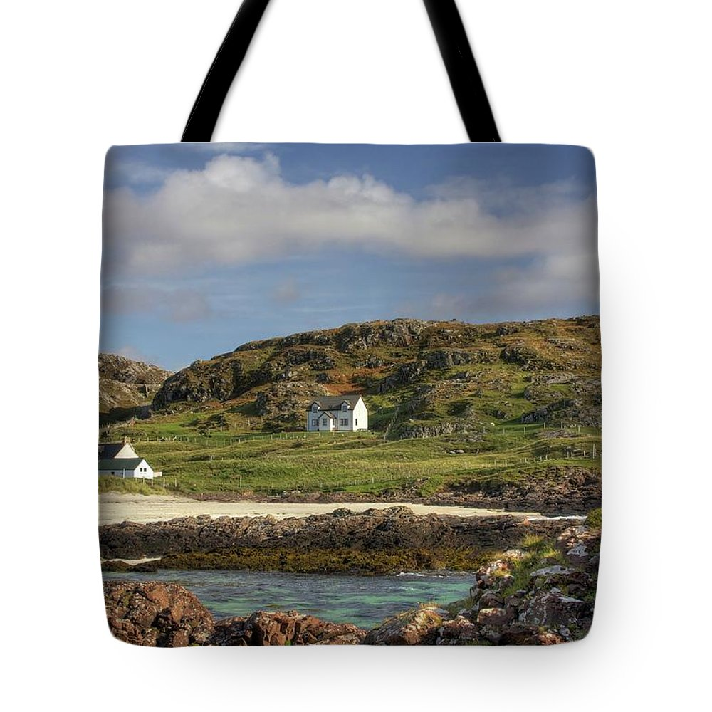 Scotland Tote Bag featuring the photograph Clachtoll Beach by Colette Panaioti