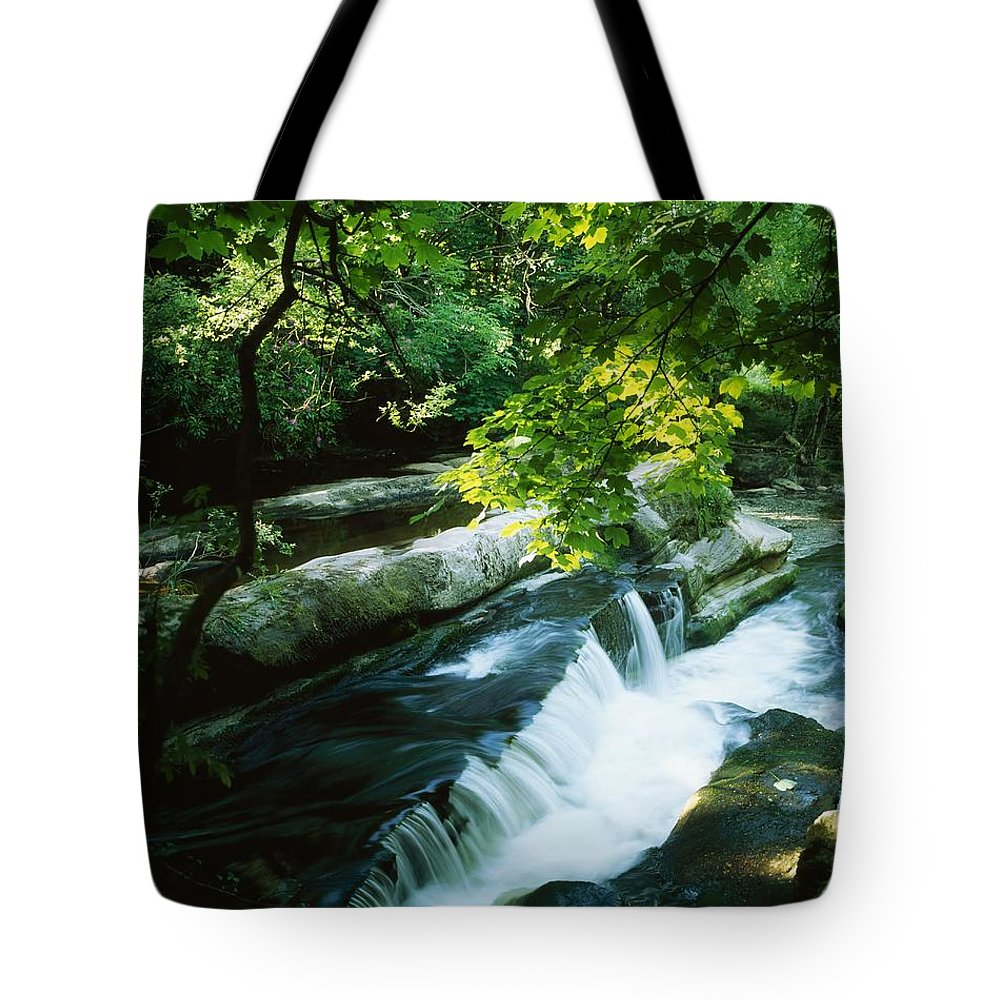 Motion Blur Tote Bag featuring the photograph Clare Glens, Co Clare, Ireland by The Irish Image Collection