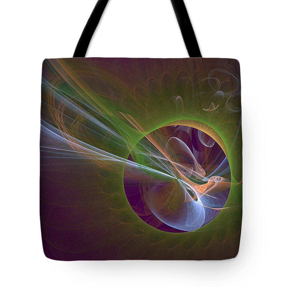 Digital Tote Bag featuring the digital art Clash Of Energy by Deborah Benoit