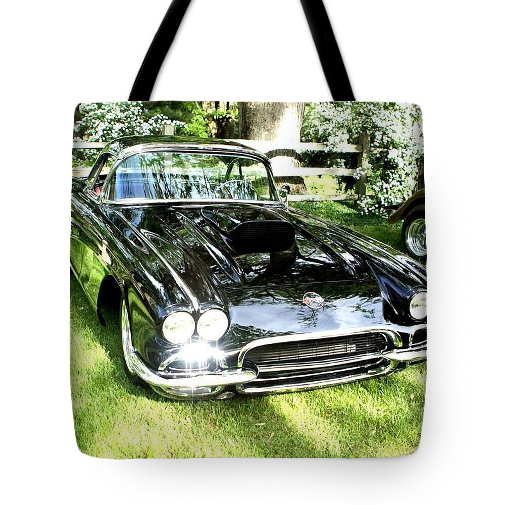 Beauty Car Auto Automobile Photograph Collect Collection Vintage Classic Life Tote Bag featuring the photograph Classic Beauty. by Stevie Ellis