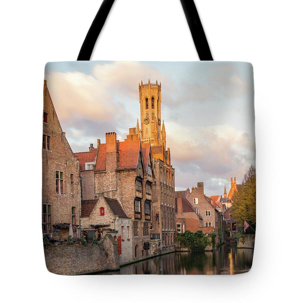 Rozenhoedkaai Tote Bag featuring the photograph Classic Bruges by Dalibor Hanzal