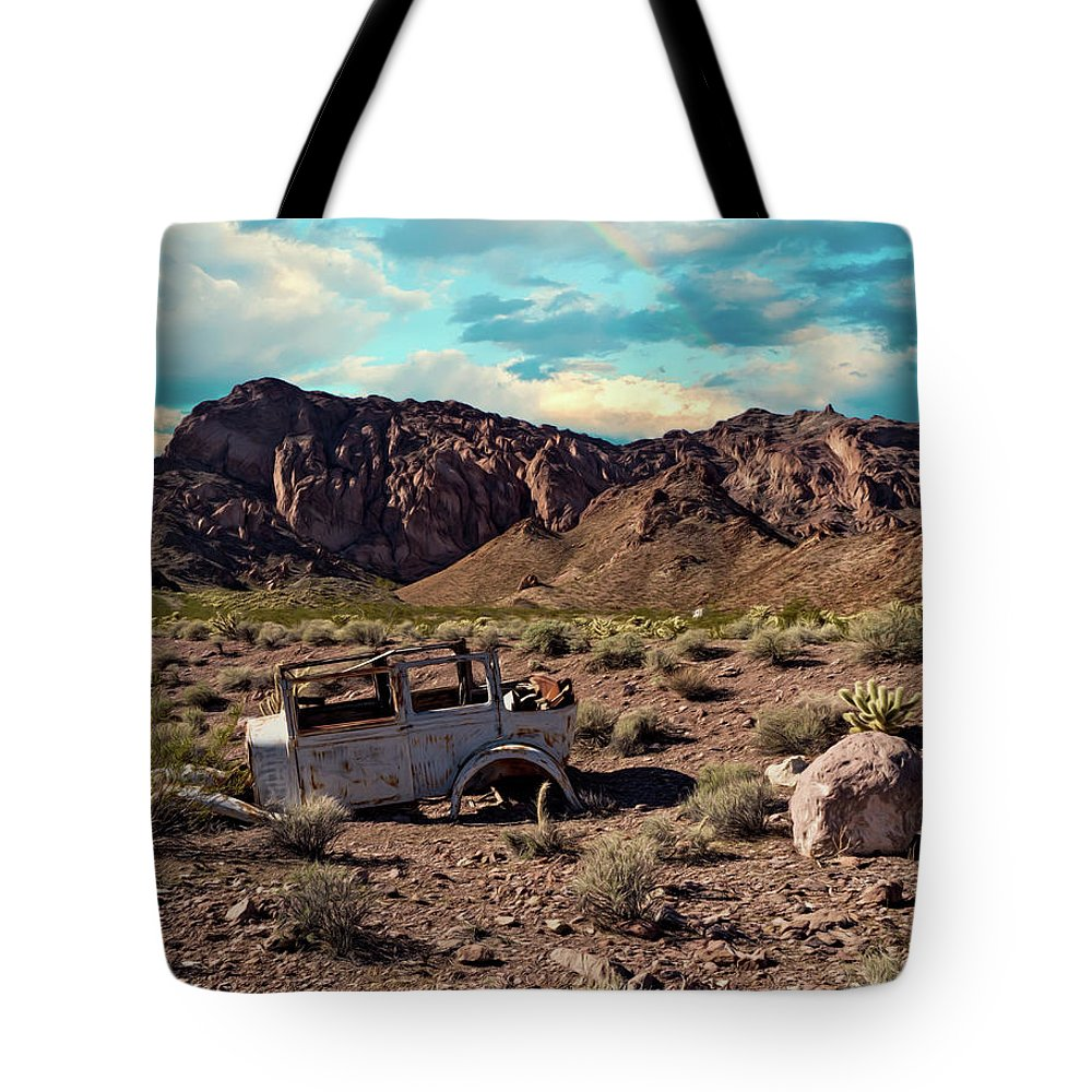 Color Tote Bag featuring the photograph Classic Car Graveyard 2 by Alan Kepler