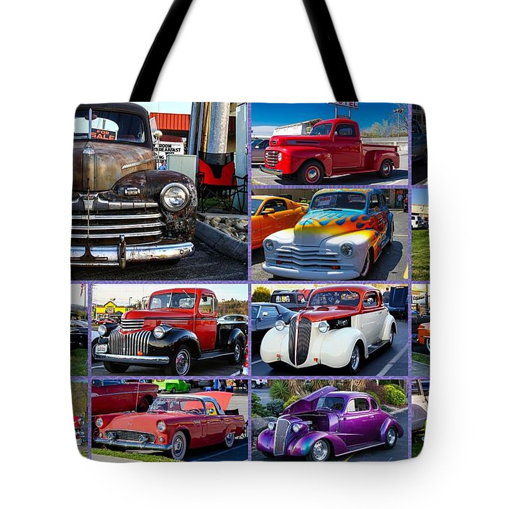 Cars Tote Bag featuring the photograph Classic Cars by Robert L Jackson