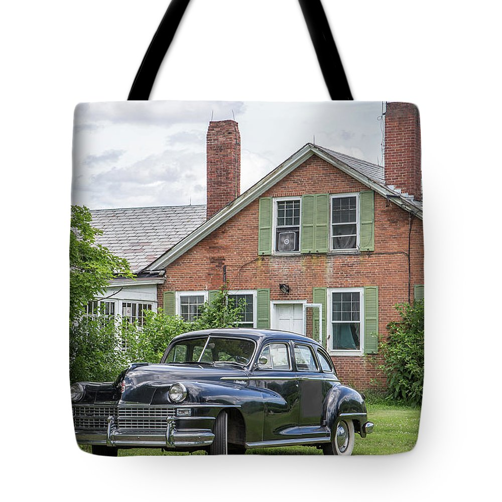 Car Tote Bag featuring the photograph Classic Chrysler 1940s Sedan by Edward Fielding