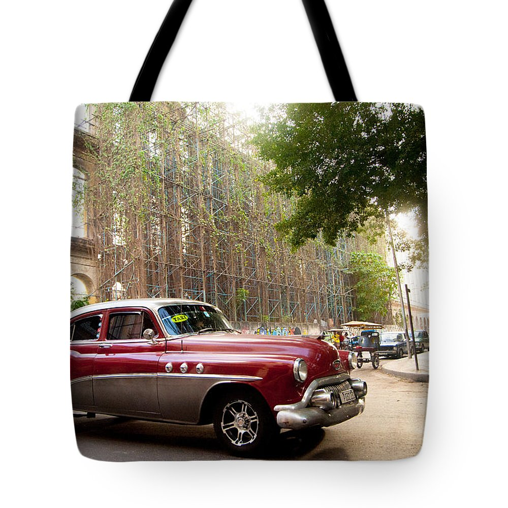 Cuba Tote Bag featuring the photograph Classic Cuba Car Vii by Rob Loud