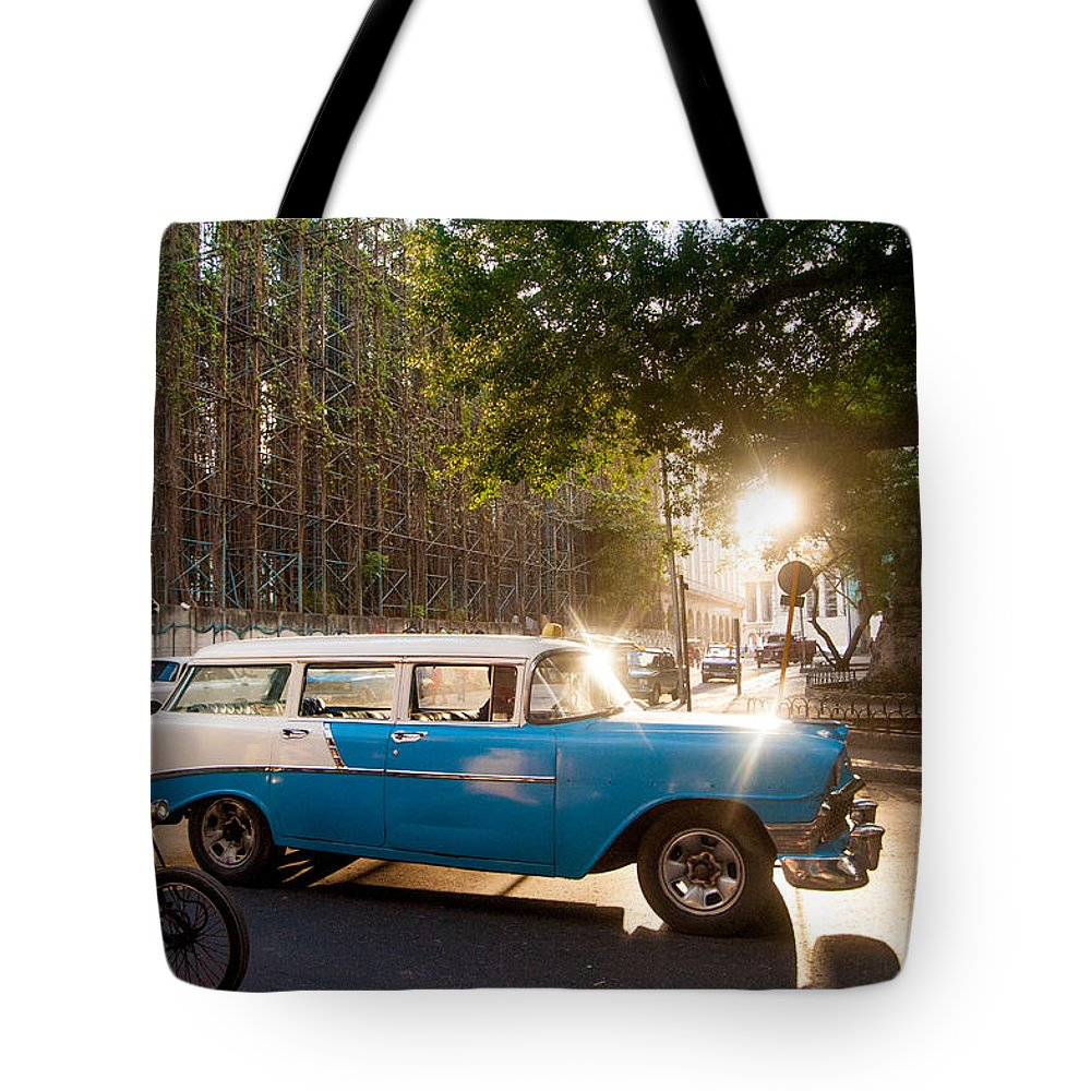 Cuba Tote Bag featuring the photograph Classic Cuba Car Xii by Rob Loud