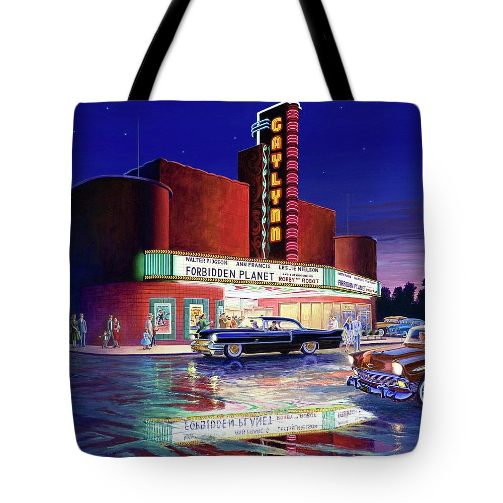 Robby The Robot Paintings Tote Bags