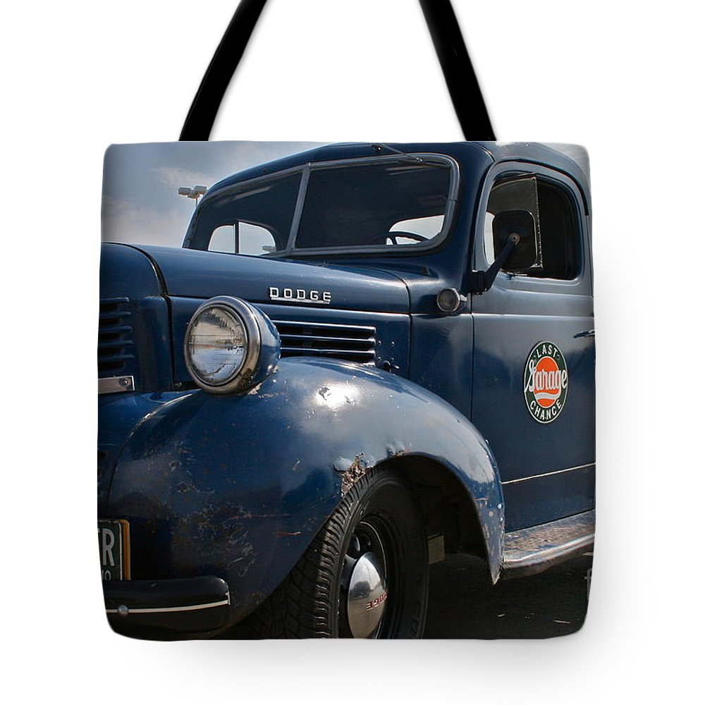 Truck Tote Bag featuring the photograph Classic Dodge by Rick Monyahan