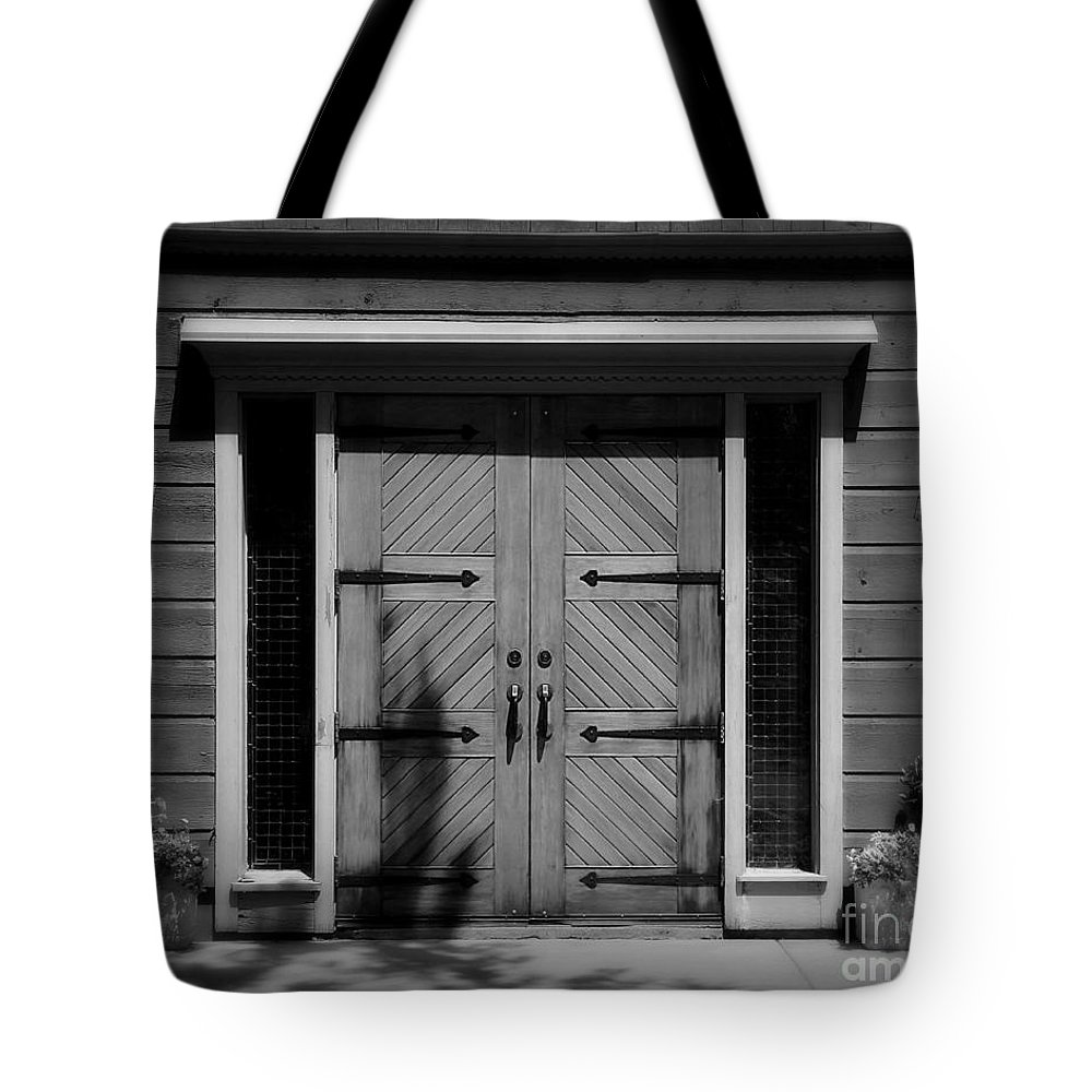 Door Tote Bag featuring the photograph Classic Doors by Perry Webster