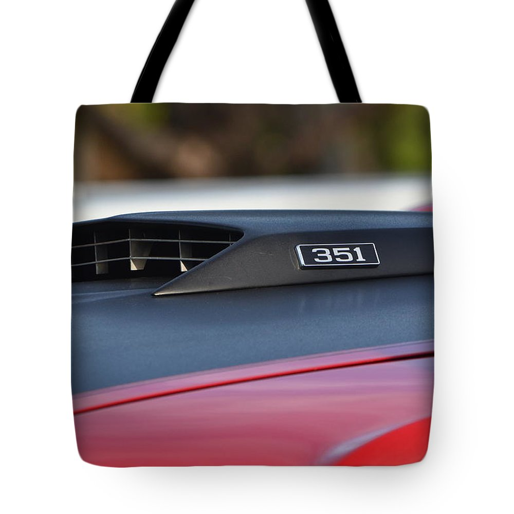 Tote Bag featuring the photograph Classic Mach 1 Hood Scoop by Dean Ferreira