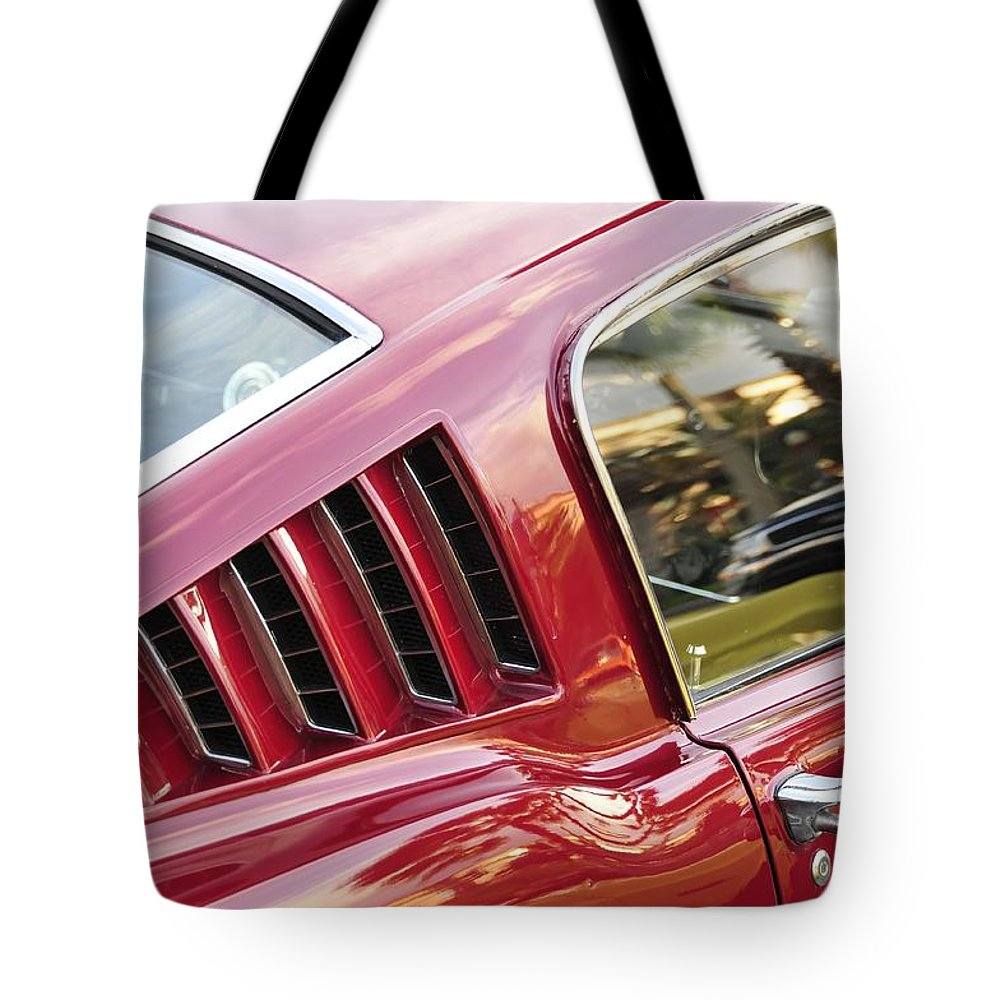 1960s Tote Bag featuring the photograph Classic Mustang Fastback by David Lee Thompson