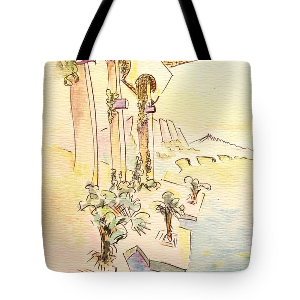 Italian Tote Bag featuring the painting Classic Summer Morning by Dave Martsolf