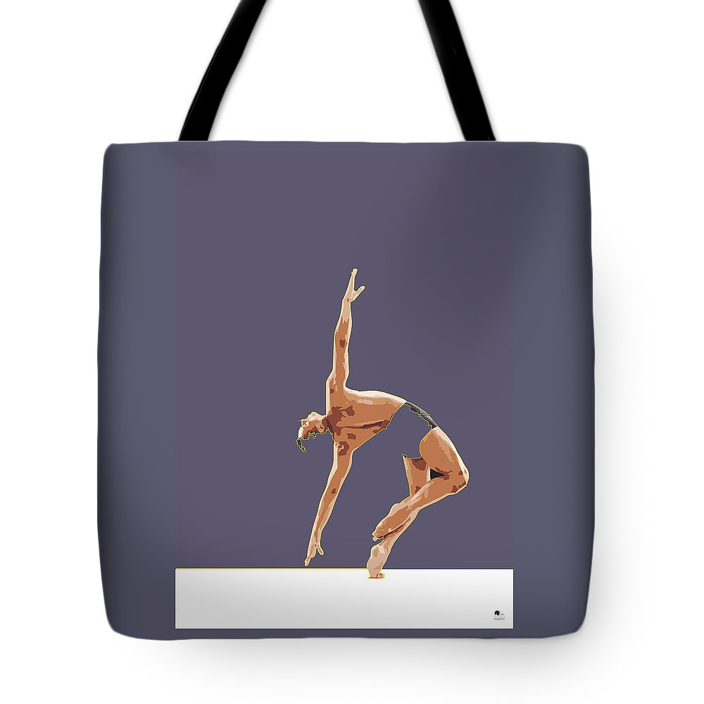 Classical Tote Bag featuring the digital art Classical Ballet Dancer by Joaquin Abella