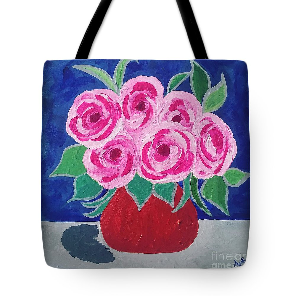 Clay Pot Tote Bag featuring the painting Clay Pot by Marti Magna