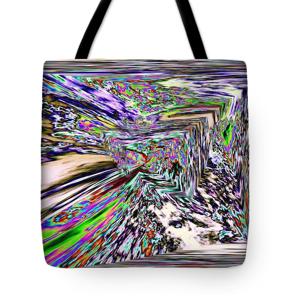 Abstract Tote Bag featuring the photograph Clear As Mud 2 by Tim Allen
