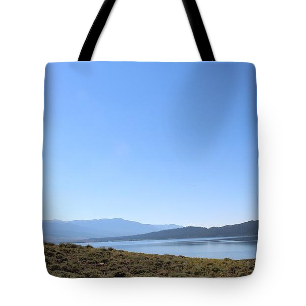 Colorado Tote Bag featuring the photograph Clear Blue Skies Over Turquoise Lake Waters by Weathered Wood