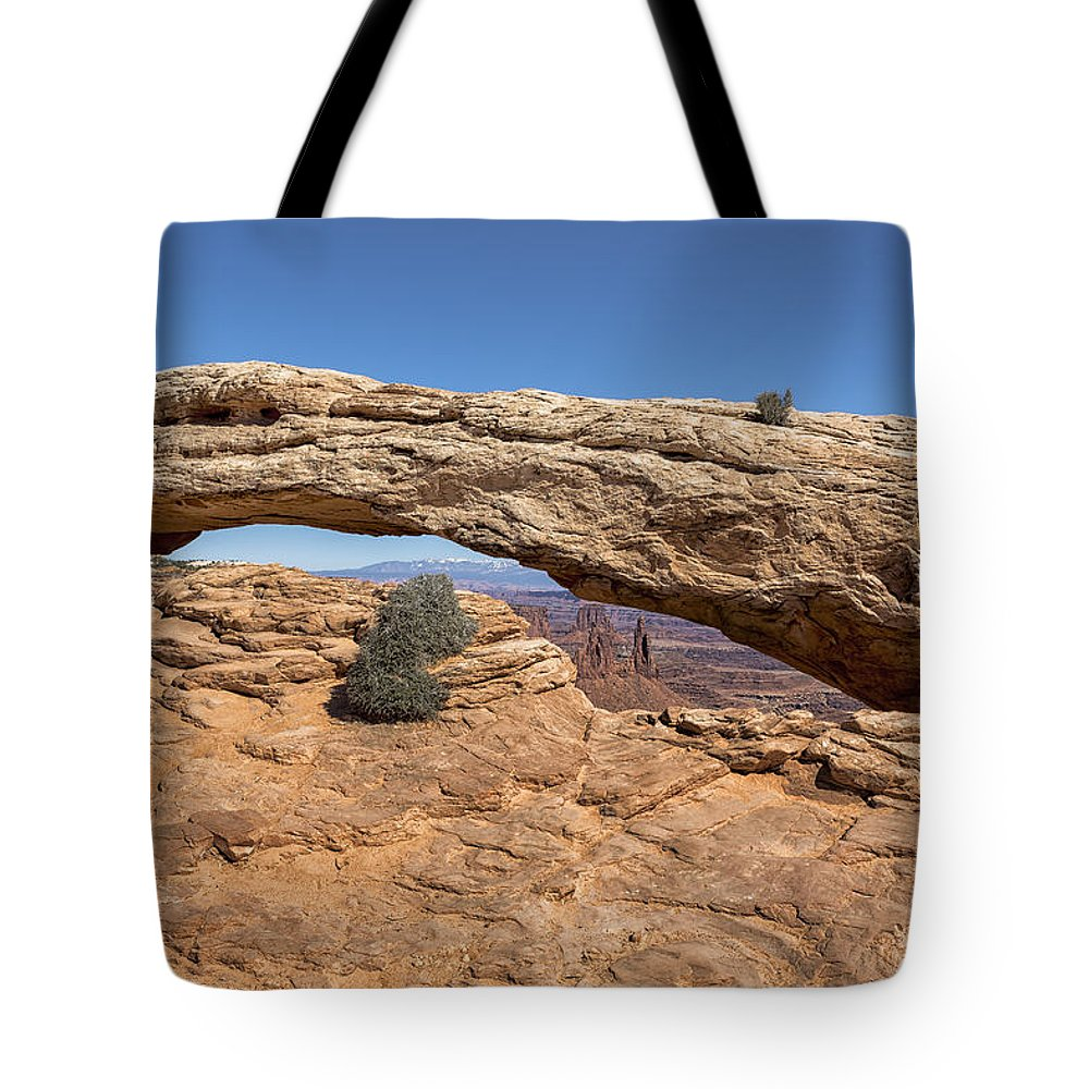 Mesa Arch Tote Bag featuring the photograph Clear Day At Mesa Arch - Canyonlands National Park by Belinda Greb