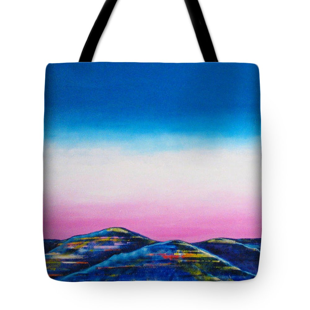 Sky Tote Bag featuring the painting Clear Day by Rollin Kocsis