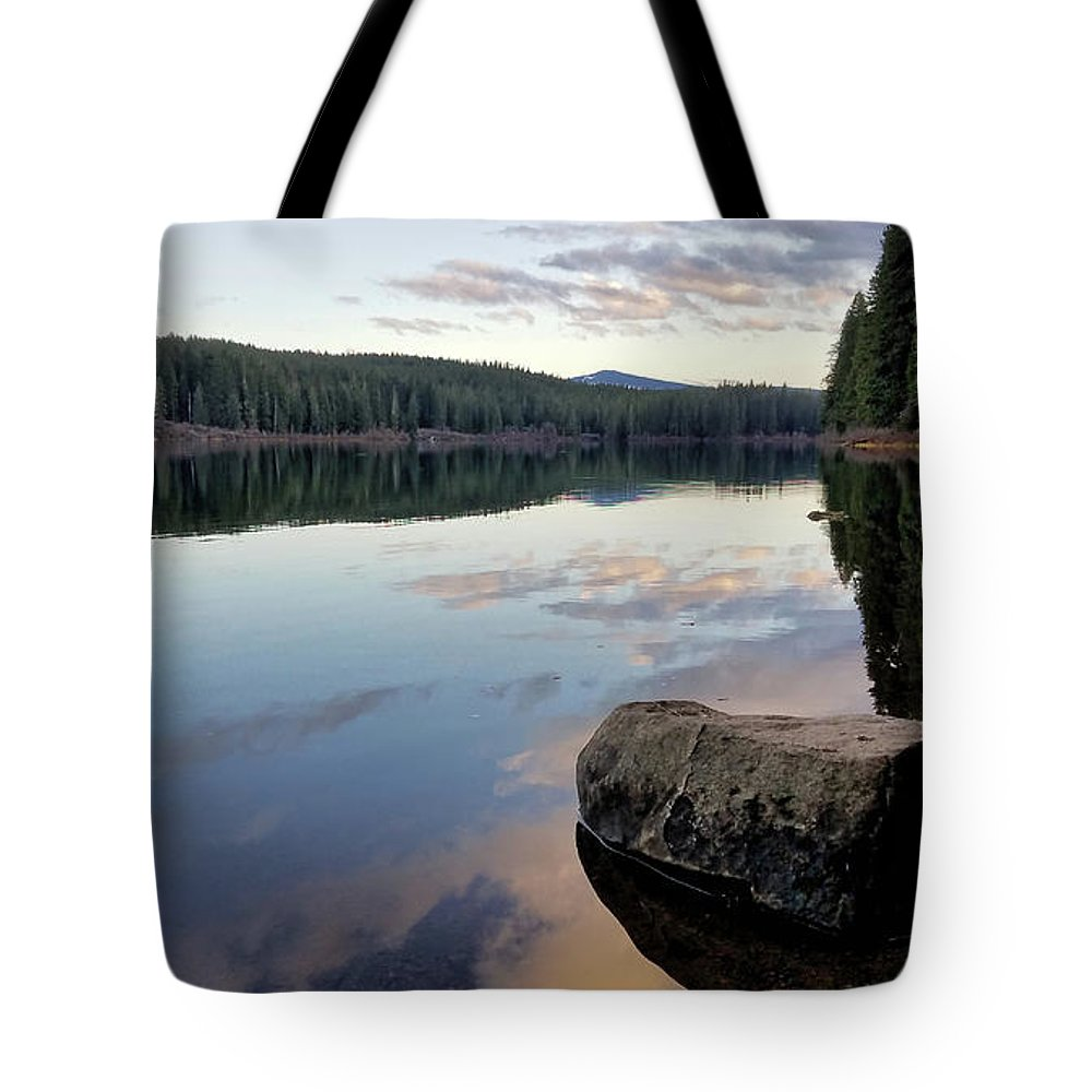 Lake Tote Bag featuring the photograph Clear Lake, Oregon by Lindy Pollard