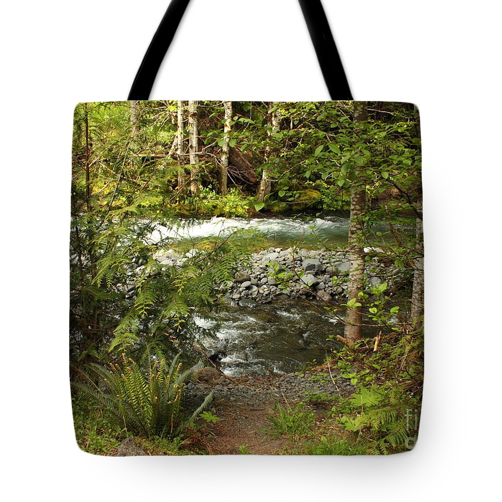 Mountain Tote Bag featuring the photograph Clear Mountain Stream by Carol Groenen
