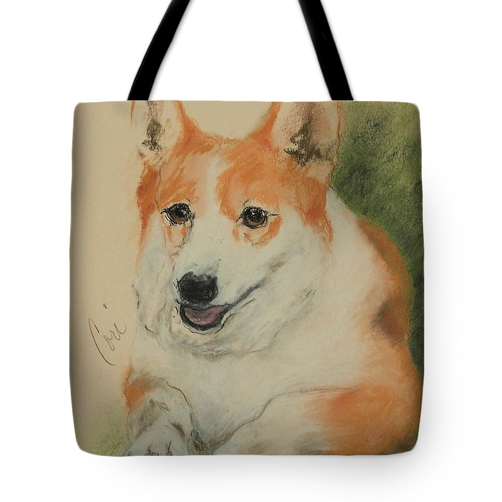 Pastel Tote Bag featuring the drawing Clear Run by Cori Solomon
