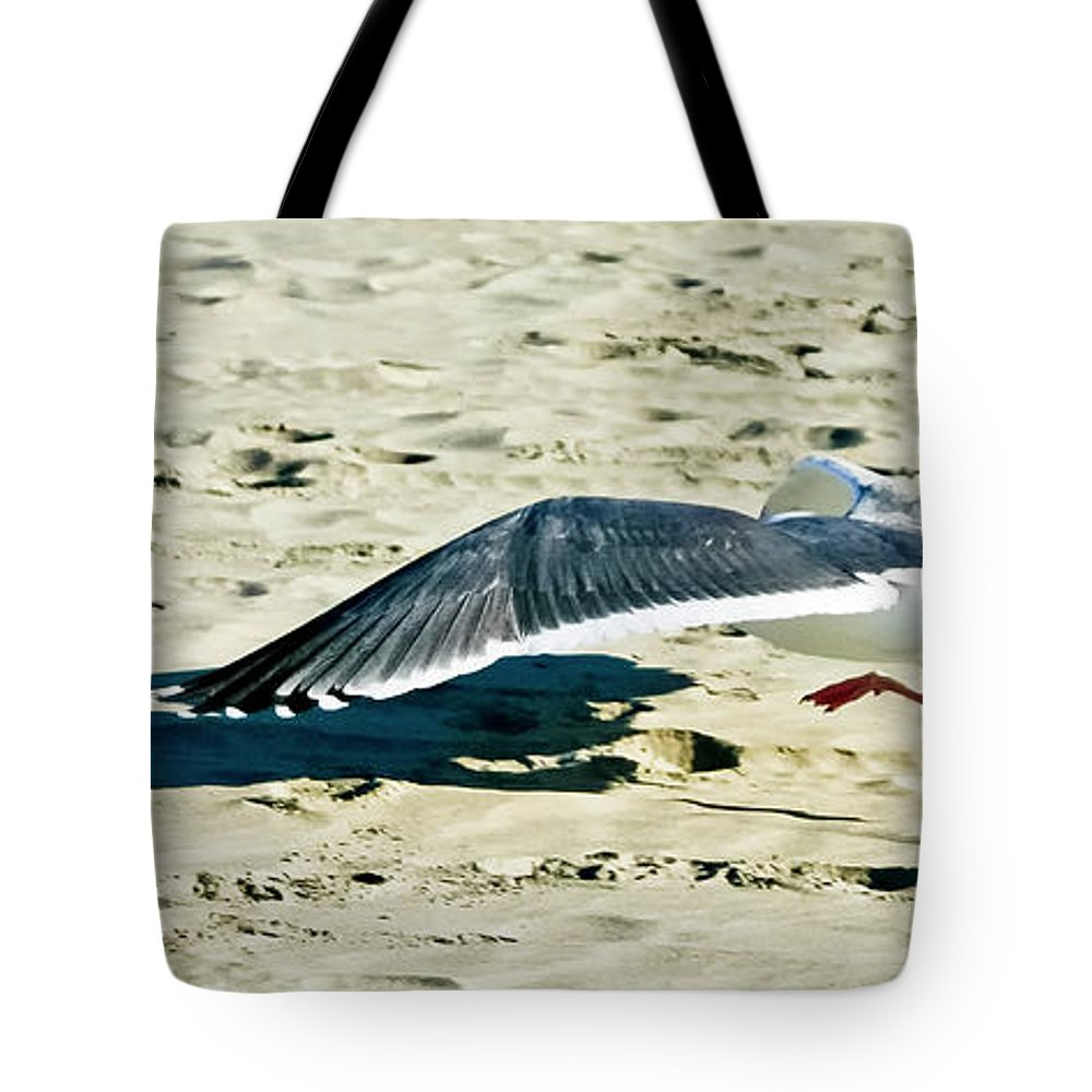 Seagull Tote Bag featuring the photograph Cleared For Take-off by Albert Seger