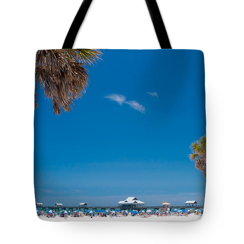 3scape Tote Bag featuring the photograph Clearwater Beach by Adam Romanowicz