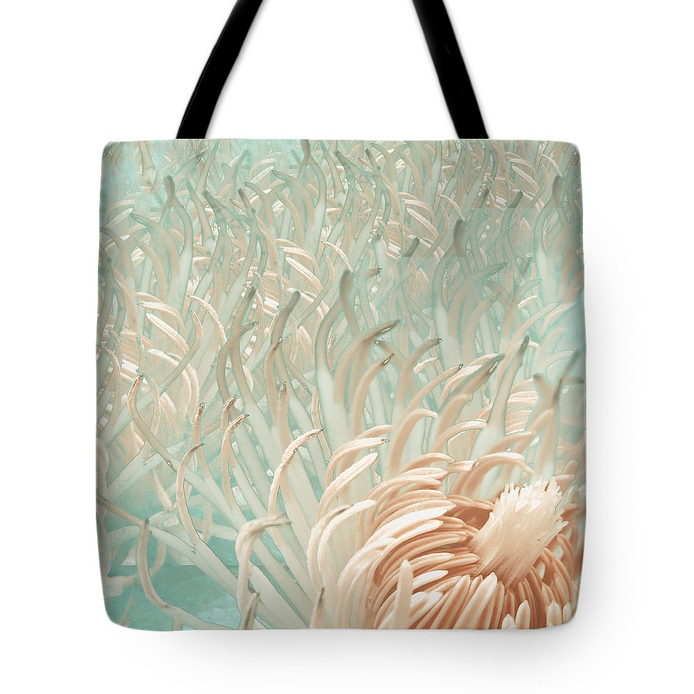 Tote Bag featuring the photograph Clematis Center - Retro Abstract by K Bella Flora Images