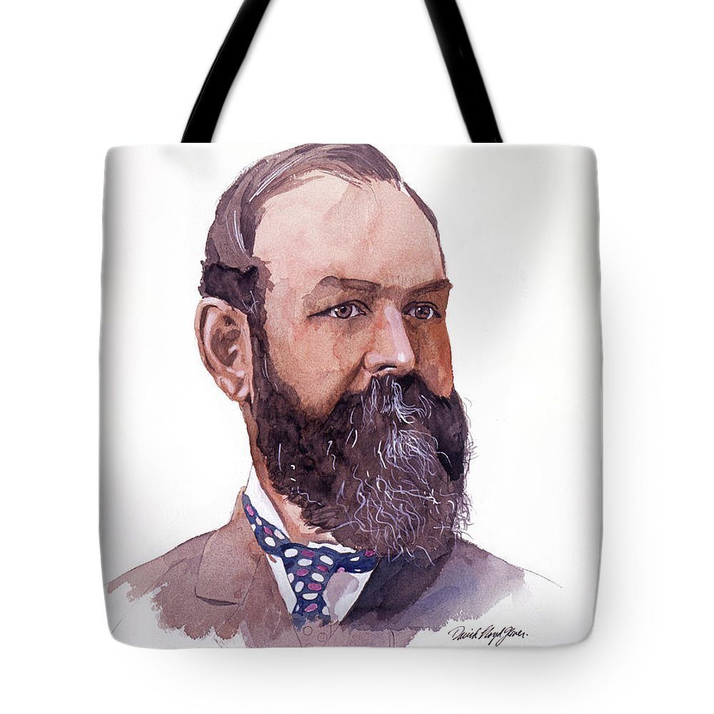 Clement Cornwall Tote Bag featuring the painting Clement Cornwall Portrait by David Lloyd Glover