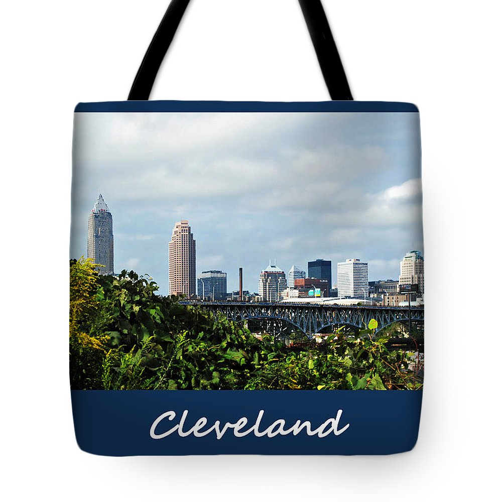 Bridge Tote Bag featuring the photograph Cleveland Poster by Joan Minchak
