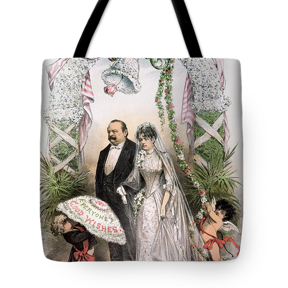 1886 Tote Bag featuring the photograph Clevelands Wedding, 1886 by Granger