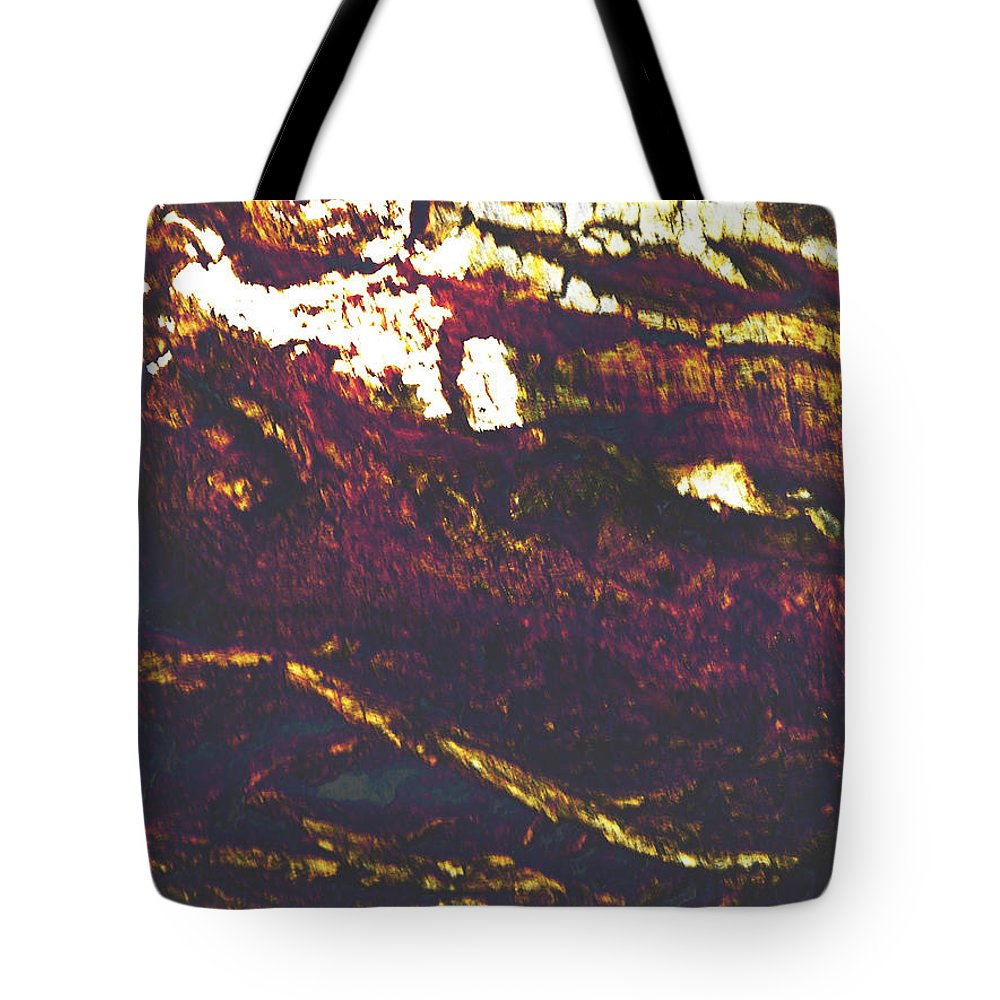 Abstract Tote Bag featuring the photograph Cliffs And Clouds by Lenore Senior