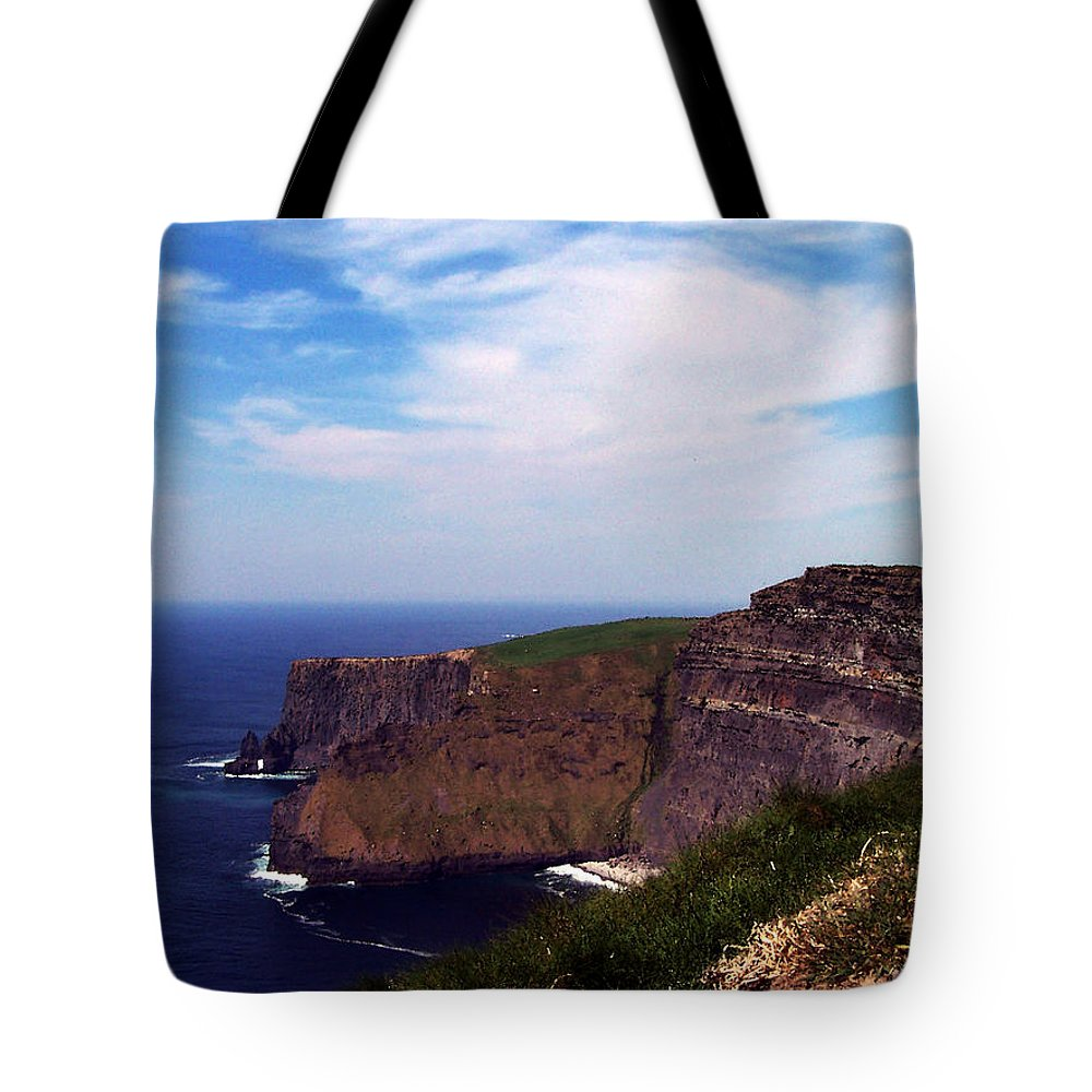 Irish Tote Bag featuring the photograph Cliffs Of Moher Aill Na Searrach Ireland by Teresa Mucha