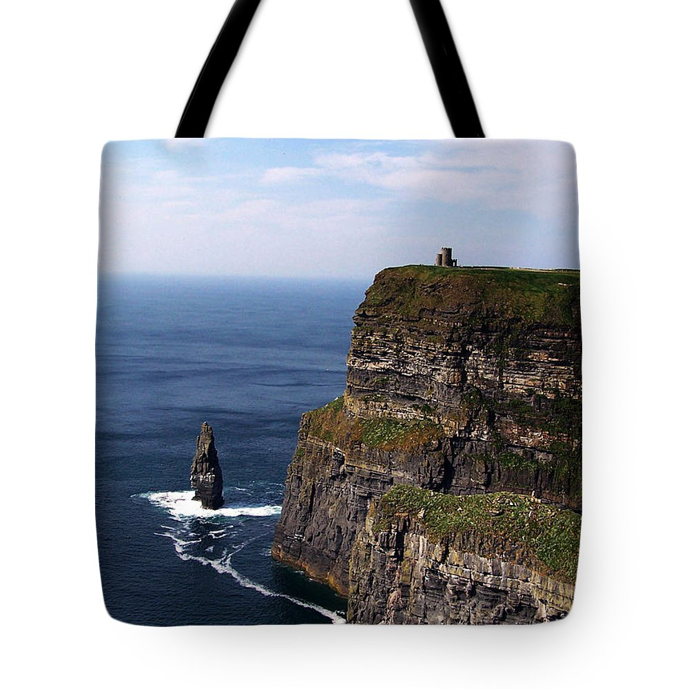 Irish Tote Bag featuring the photograph Cliffs Of Moher County Clare Ireland by Teresa Mucha