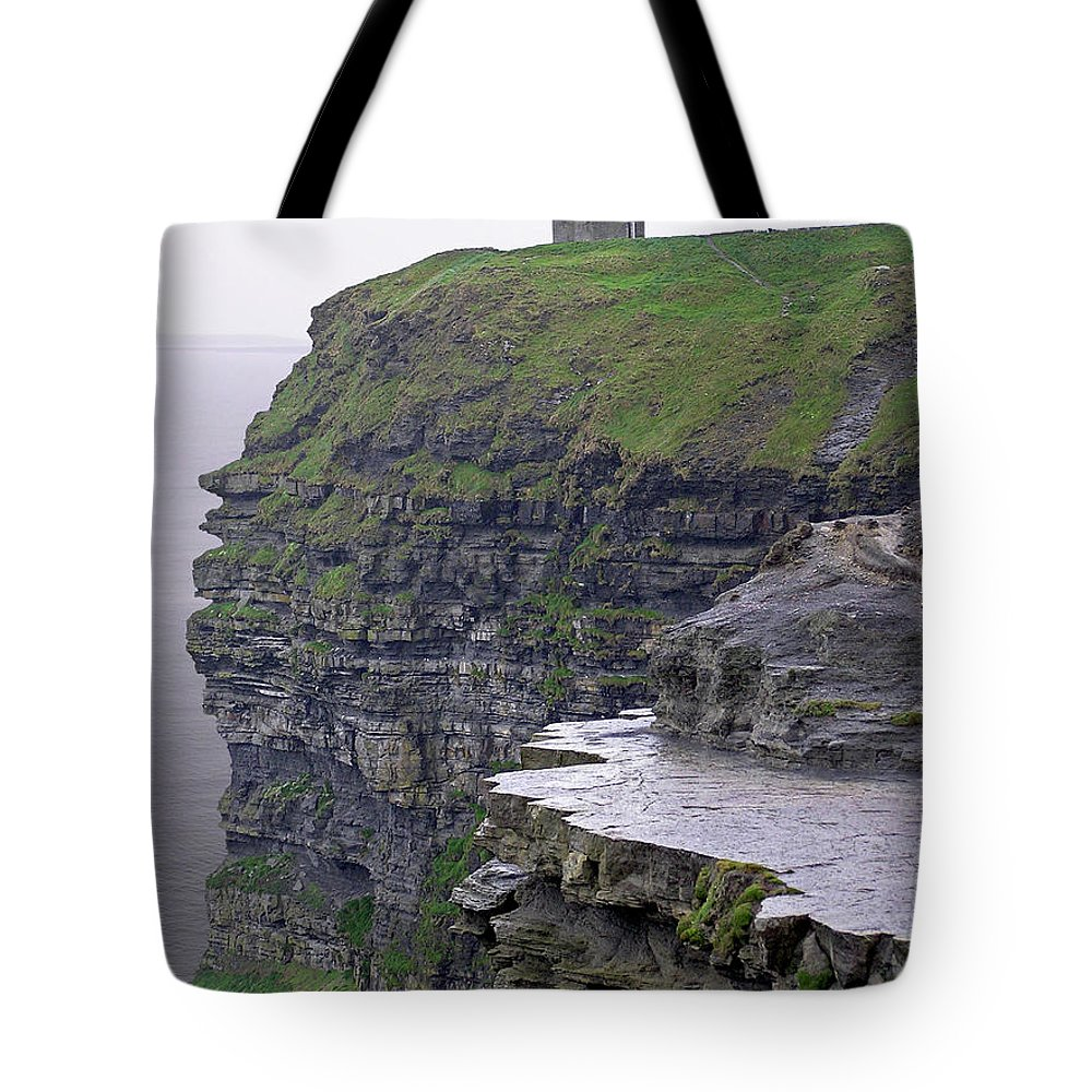 Cliff Tote Bag featuring the photograph Cliffs Of Moher Ireland by Charles Harden