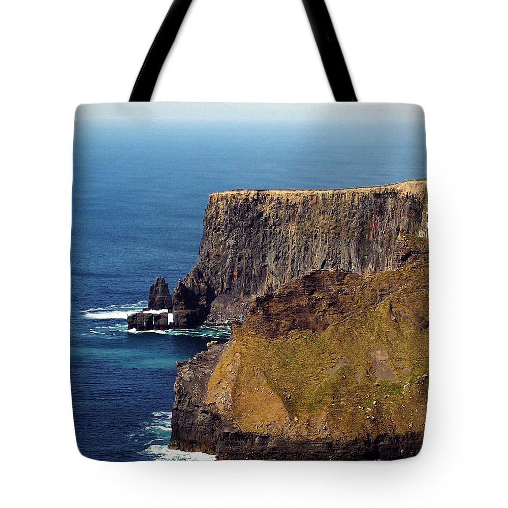 Irish Tote Bag featuring the photograph Cliffs Of Moher Ireland View Of Aill Na Searrach by Teresa Mucha