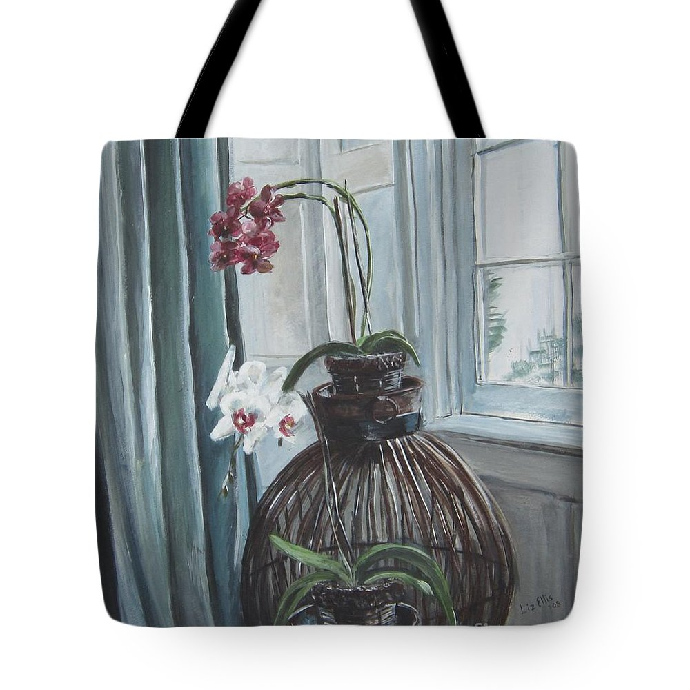Orchids Tote Bag featuring the painting Clifton by Elizabeth Ellis